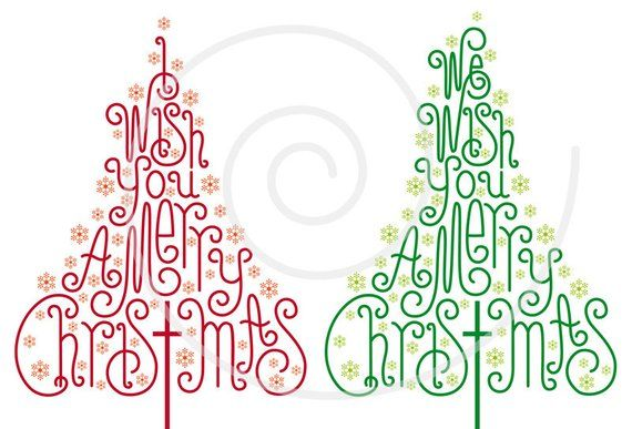 Christmas Giving Clipart.Christmas Trees With Hand Drawn Letters Christmas Card