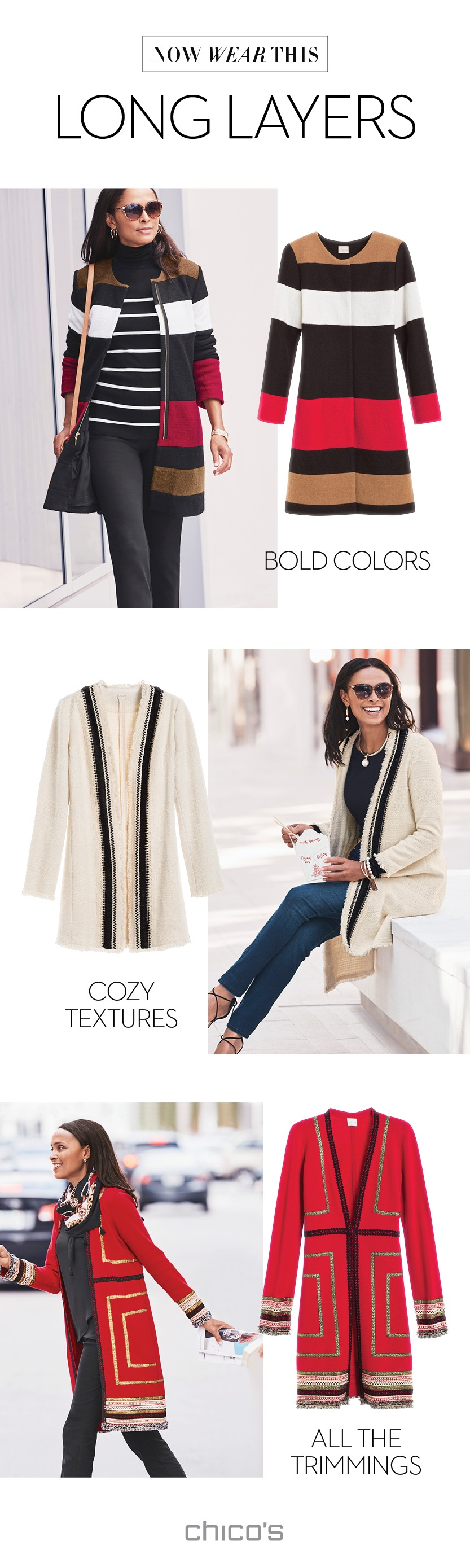 Long cardigans and duster-length jackets are sweeping in for warm ...