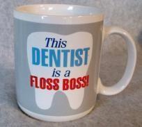 10 95 Dentist Floss Boss Coffee Cup Mug Hallmark Hugs