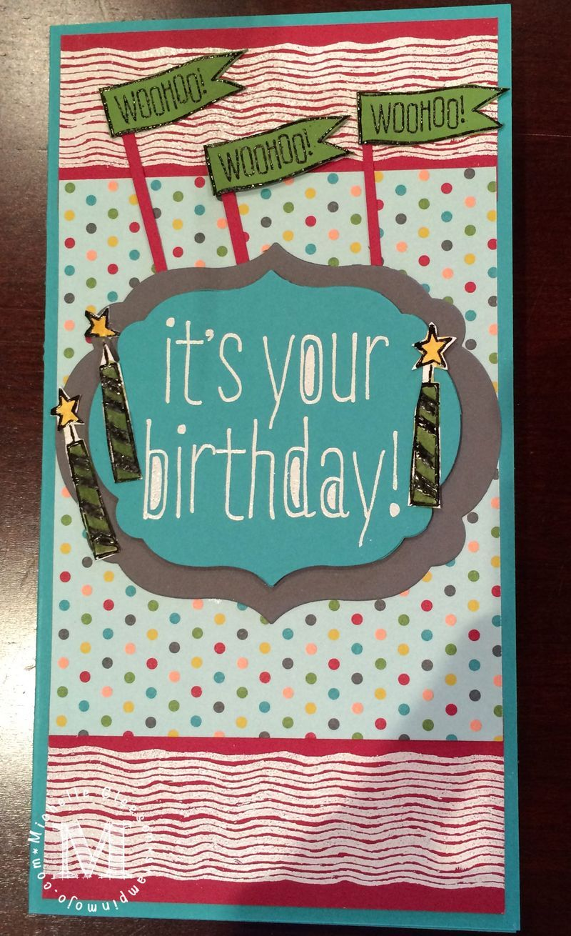 Happythbirthday stampinup stampinmojo birthdaybasics
