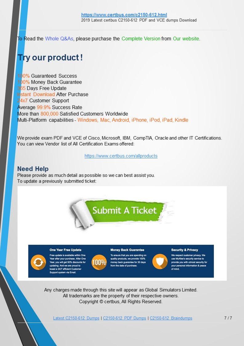 Certbus Always Updates Ibm Certified Associate Analyst C2150 612 Free Download Exam Preparation Materials Frequently To Let Our User Portfolio Management Exam Study Practice Exam