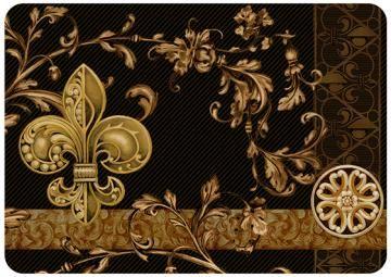 Fleur De Lys Fleur De Lis European Contemporary Black Area Rug **FREE  SHIPPING*