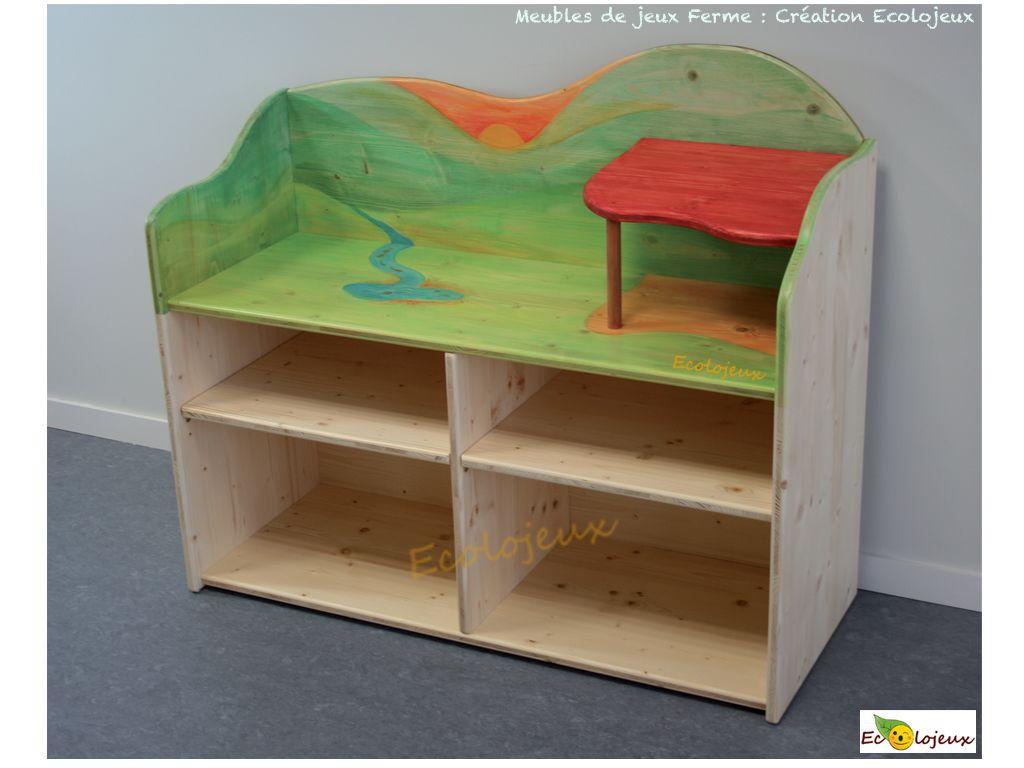 Création Ecolojeux : Meuble Ferme en bois mobilier écologique ...