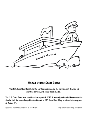 Fritters Coloring Page Teachable Moments In December Coast Guard
