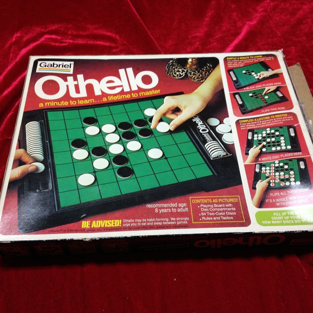 Othello Strategy Board Game Vintage 1978 70's COMPLETE VGC