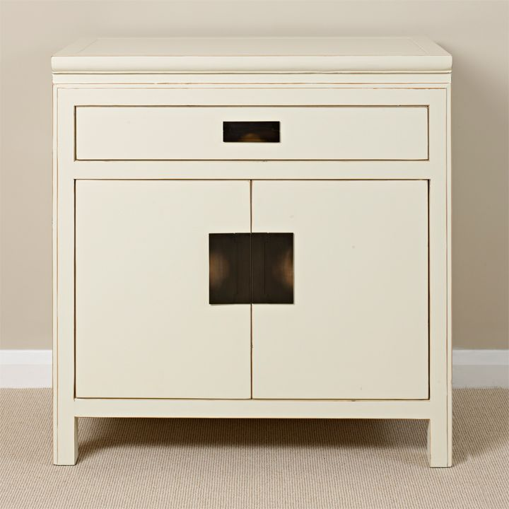 White Oriental Side Cabinet #WhiteLacquer #ChineseFurniture ...
