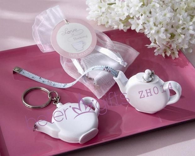 BeterGifts ZH014 Teapot Tape Measure Keychain Favours  #满月酒宴会 #生日庆生 #儿童派对 #baby #crafts  http://detail.1688.com/offer/521000950977.html