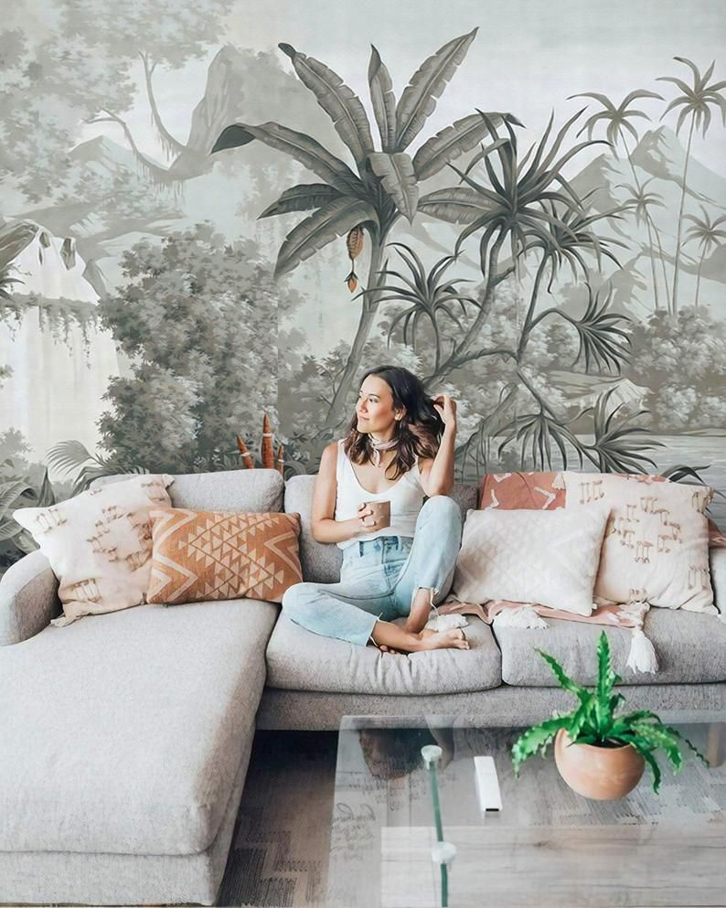 Amazon Forest Wallpaper Tropical Botanic Wall Muralliving