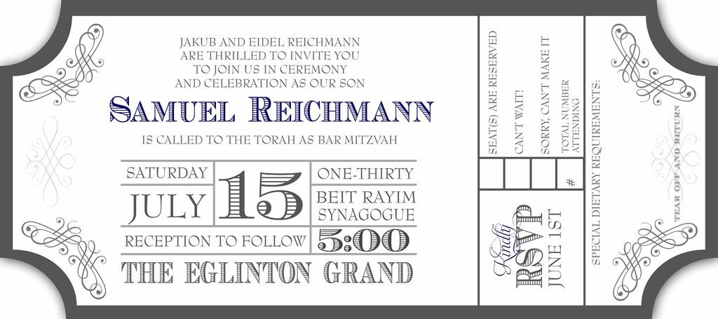 free movie ticket invitation template - Google Search Invitations