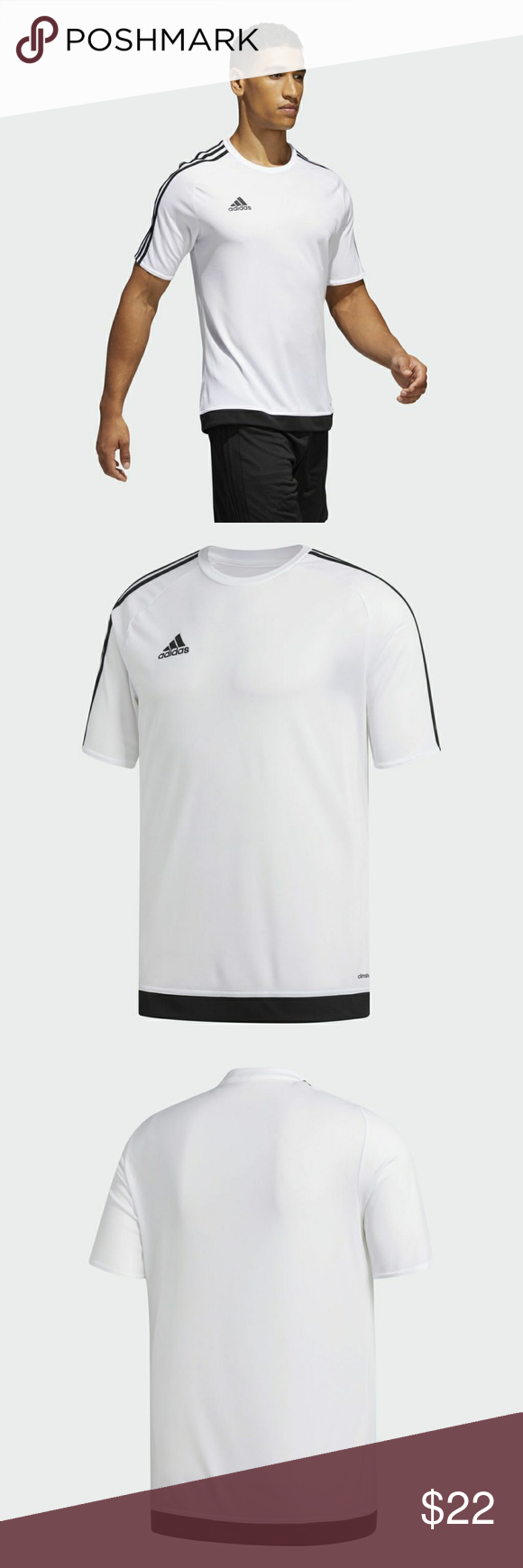 tanque Situación montar  MAN FOOTBALL ESTRO 15 SHIRT S16146 T1   15th shirt, Adidas shirt, Shirts