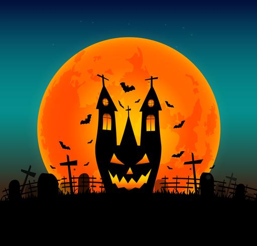 Halloween background with flying bat on and the full moon. Vector  illustration. Happy Halloween Post… | Halloween poster, Halloween  backgrounds, Vector illustration
