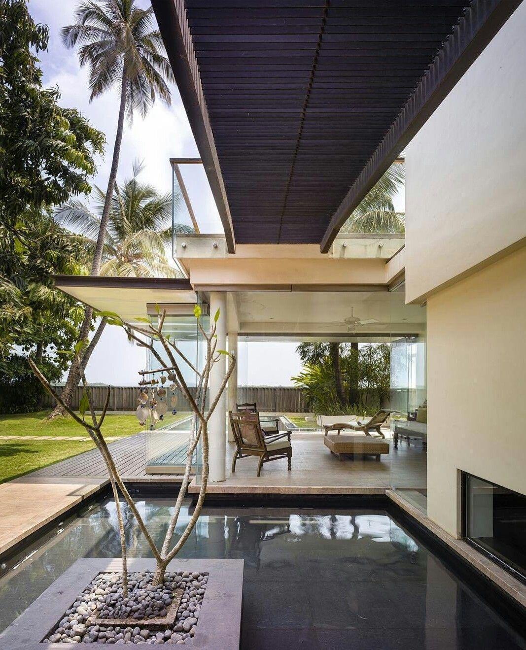 Moderne Häuser, Tropenschwimmbad, Architektur Innenarchitektur,  Strandhäuser, Villen, Architekten, House Ideas, Natur, Wunsch