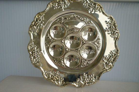 Judaica Vintage Godinger Grape design silver plated by shainkeit, $30.00