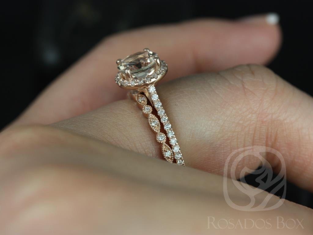 Kubian 7mm & Ult Pte Bd Eye 14kt Rose Gold Round by RosadosBox