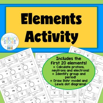 This Activity Focuses On Using The Periodic Table To Find Information On  The First 20 Elements