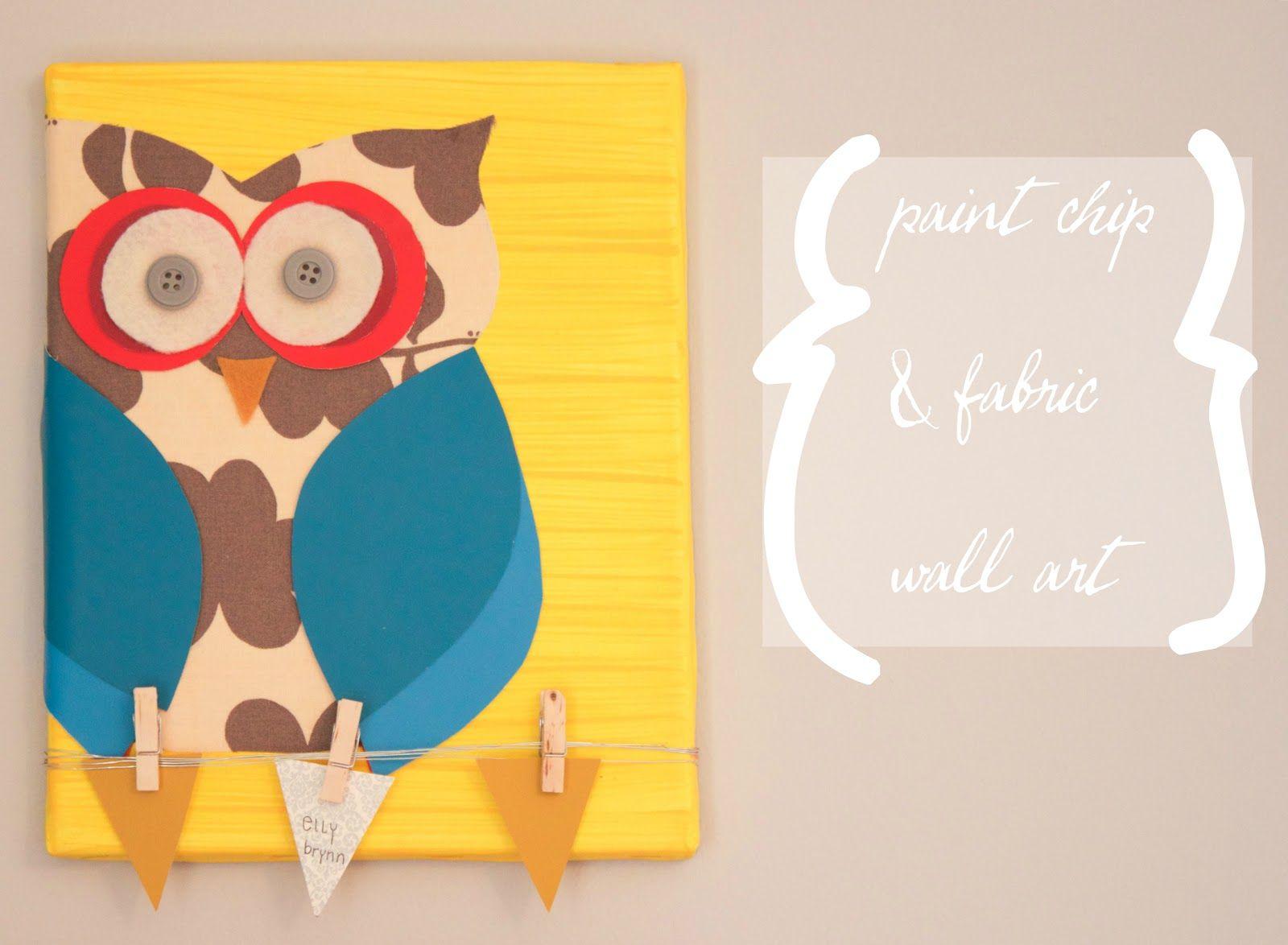 the winthrop chronicles: paint chips + canvas = art | Art ...