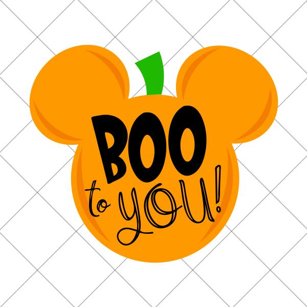 Mickey Pumpkin Boo to You Halloween SVG Mickey halloween