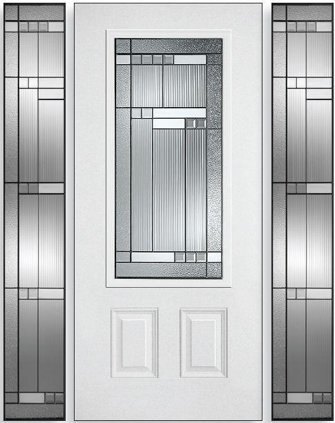 Steel front door glass insert google search front for Front door glass insert