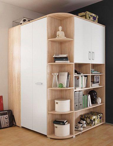 Eckkleiderschrank »Barcelona« Pinterest Closet layout, Smart - schlafzimmer mit eckschrank