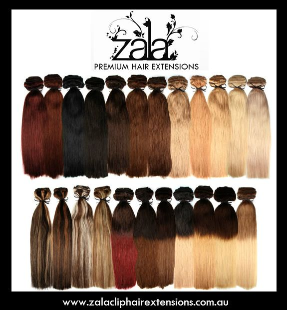 Our Range Of Beautiful Clip in Hair Extensions. Lovely Hair Everyday!  Choose your colour today or get a colour match via our facebook!  www.ZalaClipHairExtensions.com.au