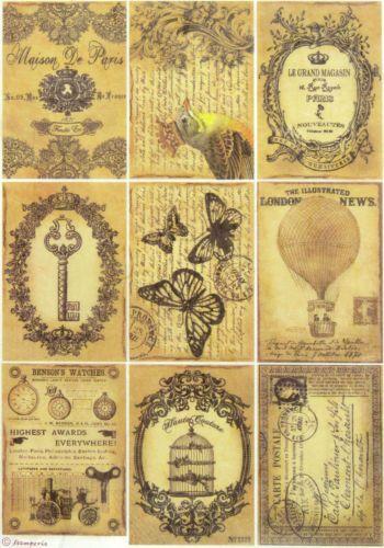 Rice Decoupage Paper//DECOUPIS feuilles//scrapbooking//voyages antique