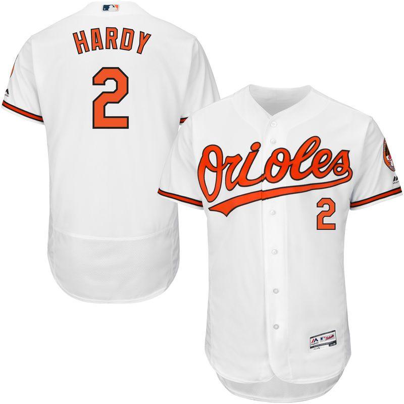 JJ Hardy Baltimore Orioles Majestic Home Flex Base Authentic ...