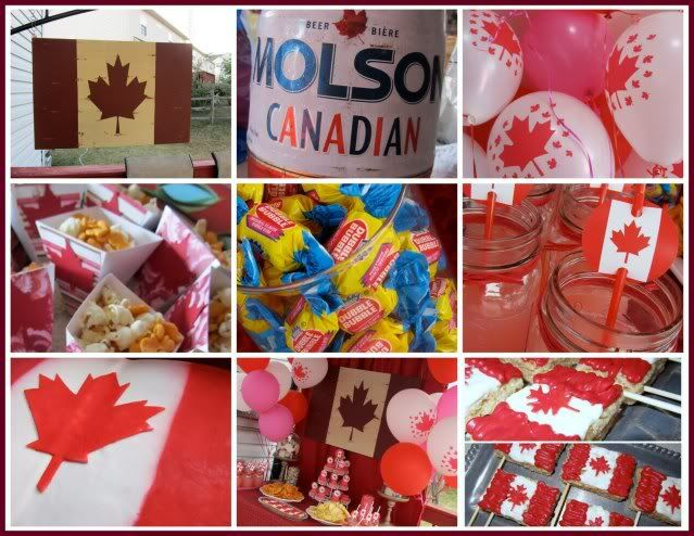 Canada Themed Party For The Canadian