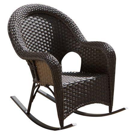 Gina Wicker Patio Rocking Chair Rocking Chair Wicker Rocker Patio Rocking Chairs