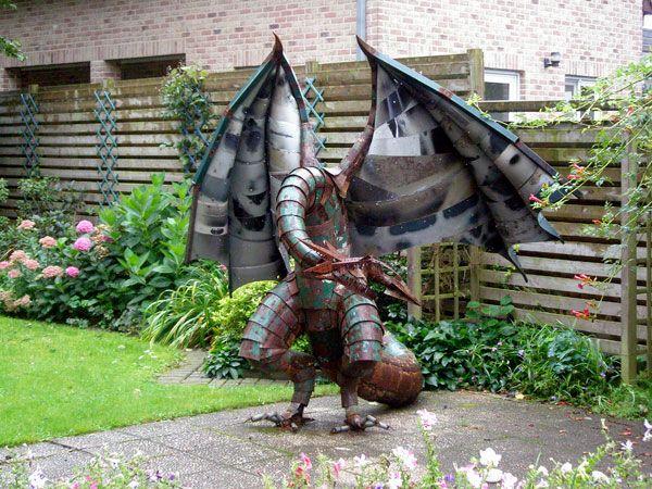 Dragon Yard Art Metal Post Falls | ... Dragon Of Scrap Metal In Metals