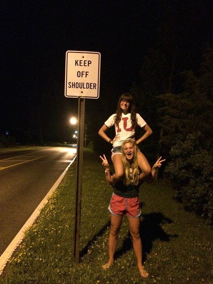 best friend; summer photography; country girls; bff; keep off shoulders; irony; funny; road sign