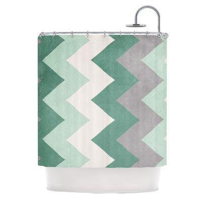 KESS InHouse Winter Shower Curtain