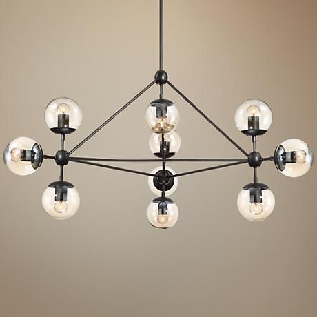 Possini euro gable 40 wide 10 light black chandelier pinterest cognac glass is a great pairing to the black finish of this ten light chandelier aloadofball Gallery