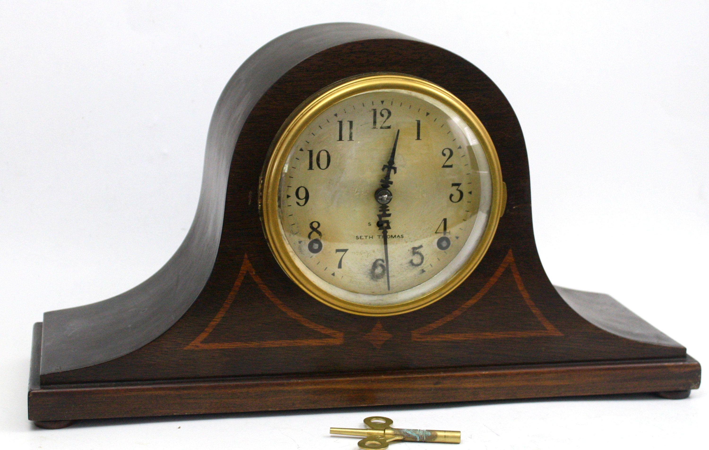 Seth Thomas Tambour Mantle Clock 8 Day Pendulum Movement