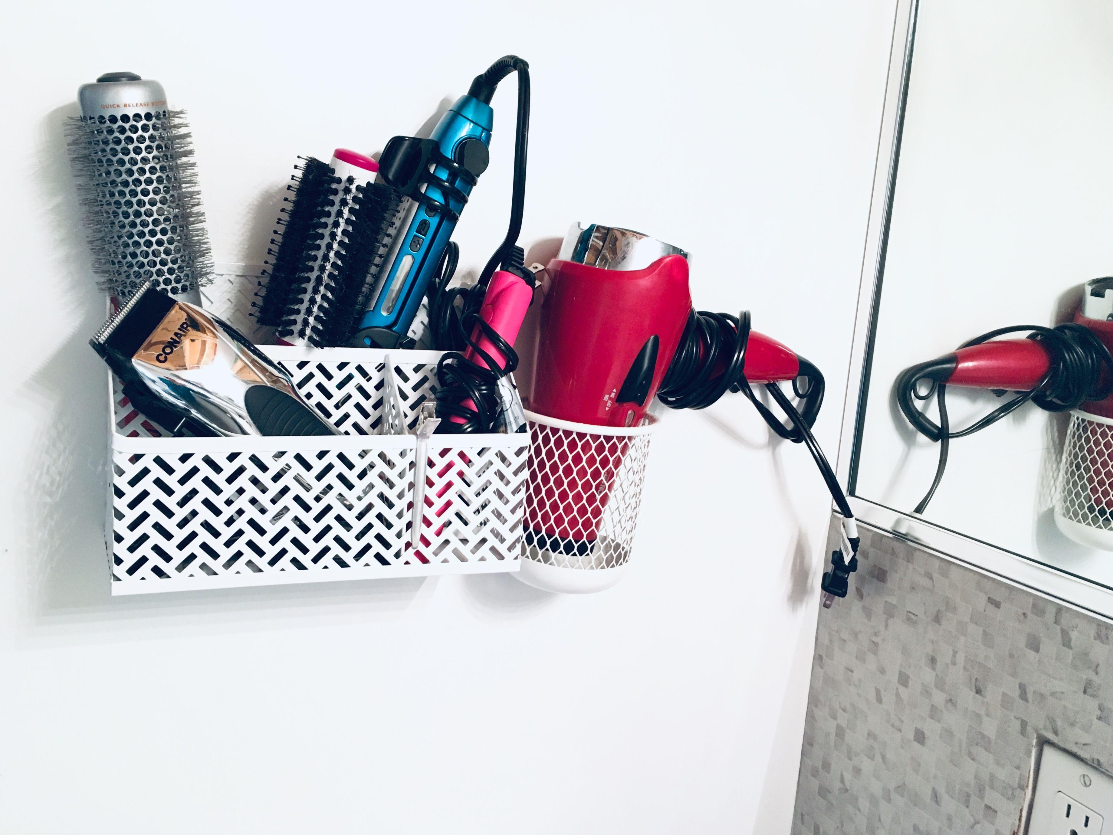 Rangement Pour Seche Cheveux range-tout de bureau zigzag, blanc (26850) | fer plat