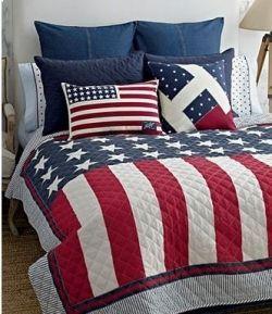 American Flag Red White Blue Bedding Sets Americana Home Decor