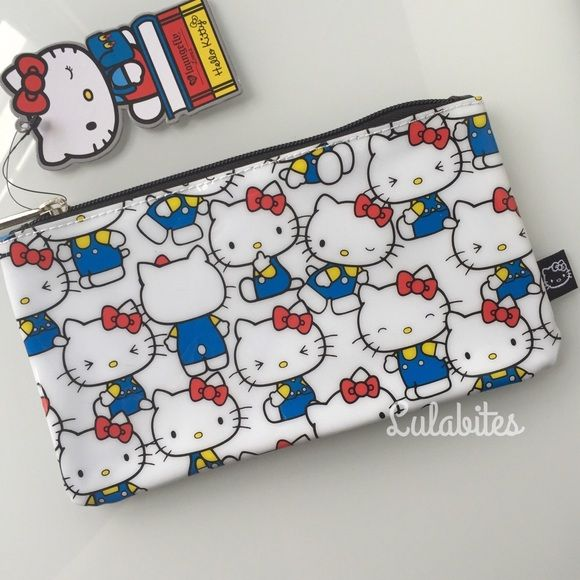 208fa70cd Hello Kitty Vintage Case New Hello Kitty case by Loungefly. Printed Plastic  Cosmetic Bag/Pencil Case. Measurements: W: 8