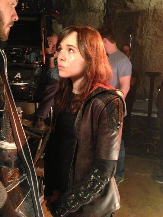 Spotted On Set X Men Days Of Future Past Ellen Page Bryan Singer Days Of Future Past