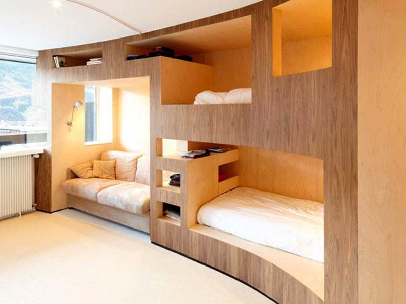 Cool Built In Bunk Beds For Small Rooms Hdwallpicx Com Modern Loft Bed Space Saving Furniture Bedroom Kids Bedroom Space