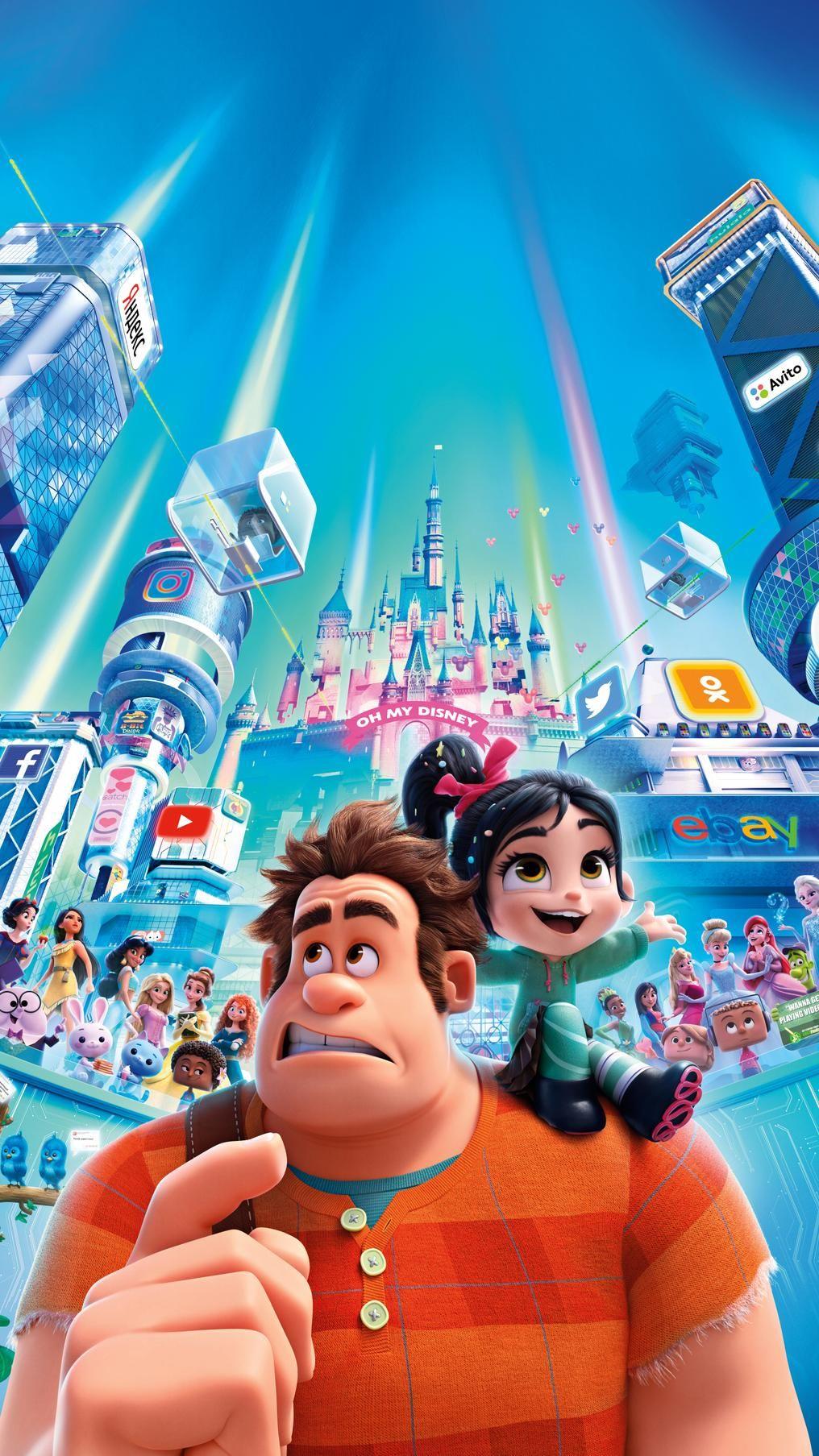 Ralph Breaks The Internet 2018 Phone Wallpaper Moviemania Disney Wallpaper Disney Background Cute Disney Wallpaper