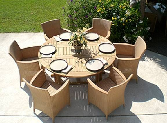 5 Foot Round Drop Leaf Table With 6 Helena Chairs Fp5hl6 Outdoor Dining Table Teak Patio Furniture Round Outdoor Dining Table