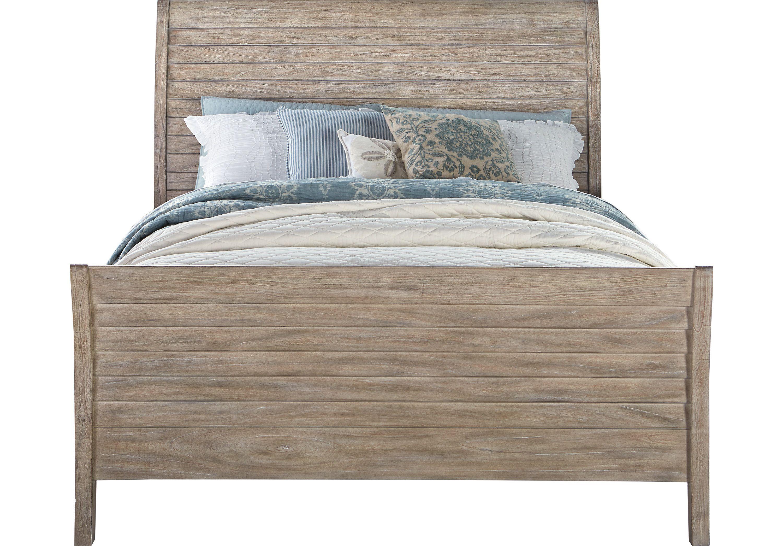 Nantucket Breeze Bisque 3 Pc Queen Sleigh Bed Bedroom