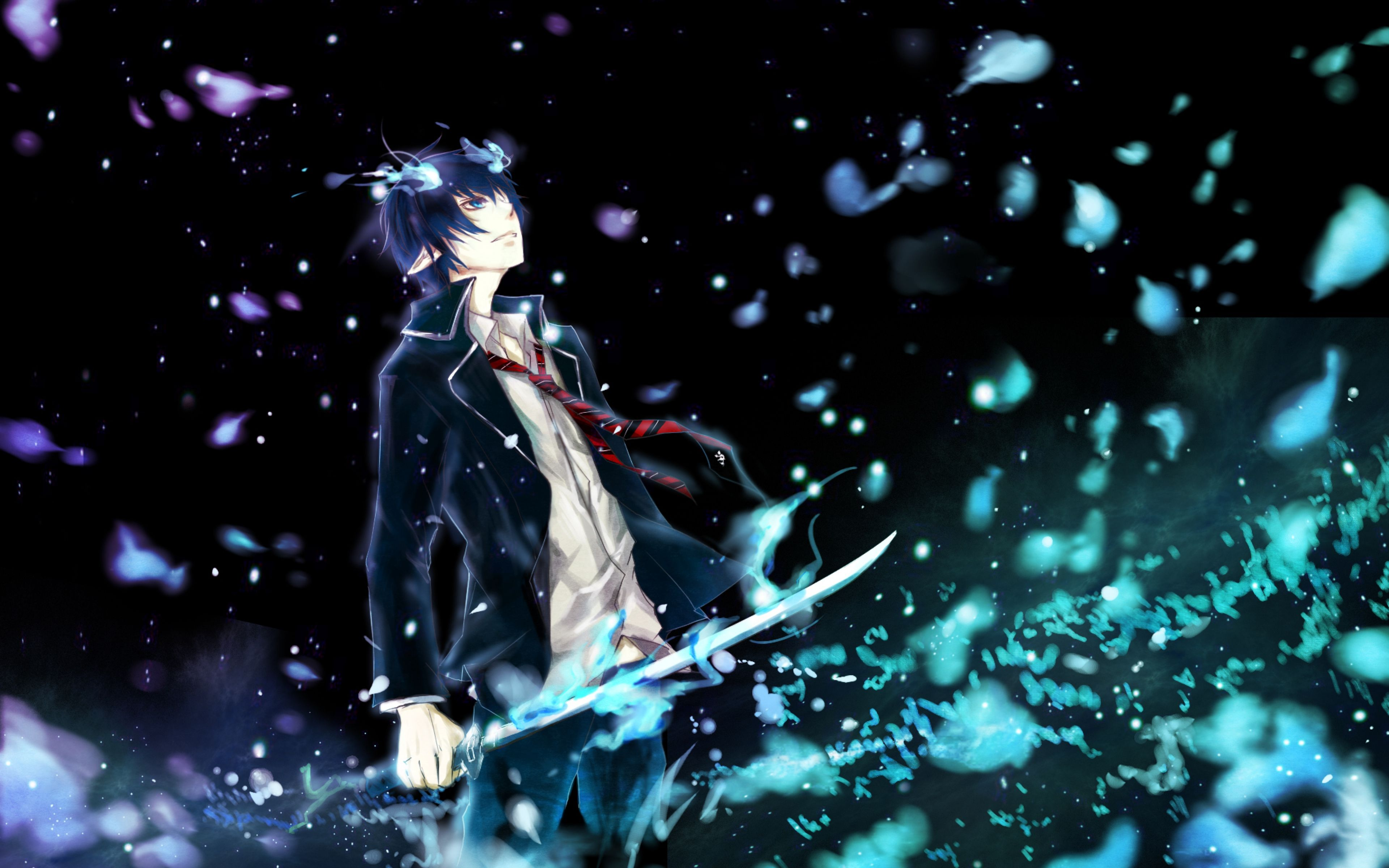 661661.jpg (3840×2400) | Ao no exorcist | Pinterest | Blue anime ...