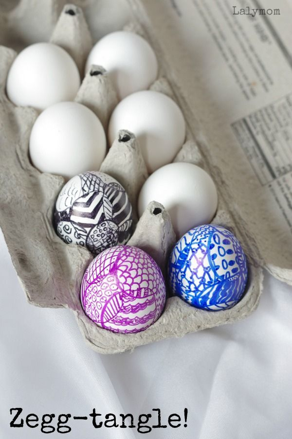 Easter Egg Decorating Ideas Zegg Tangle Zentangle Eggs No Dye Needed To Make