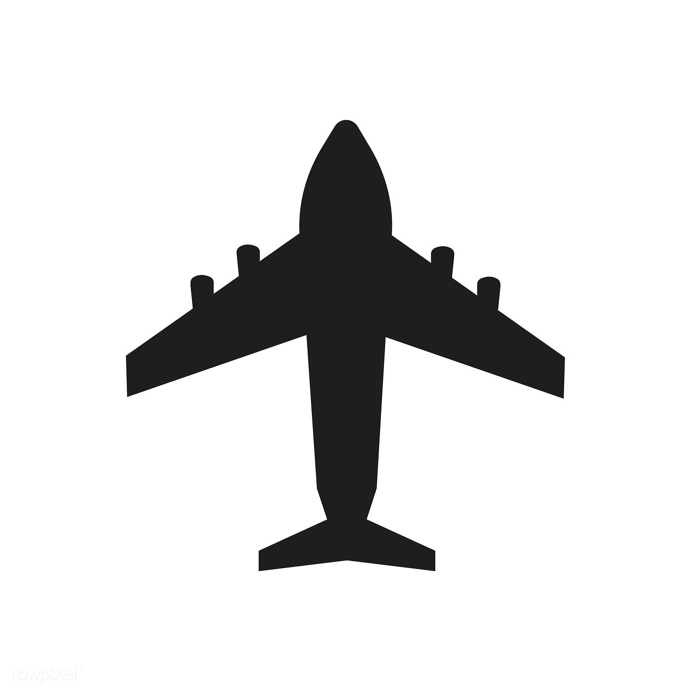 50+ Aeroplane clipart black and white ideas