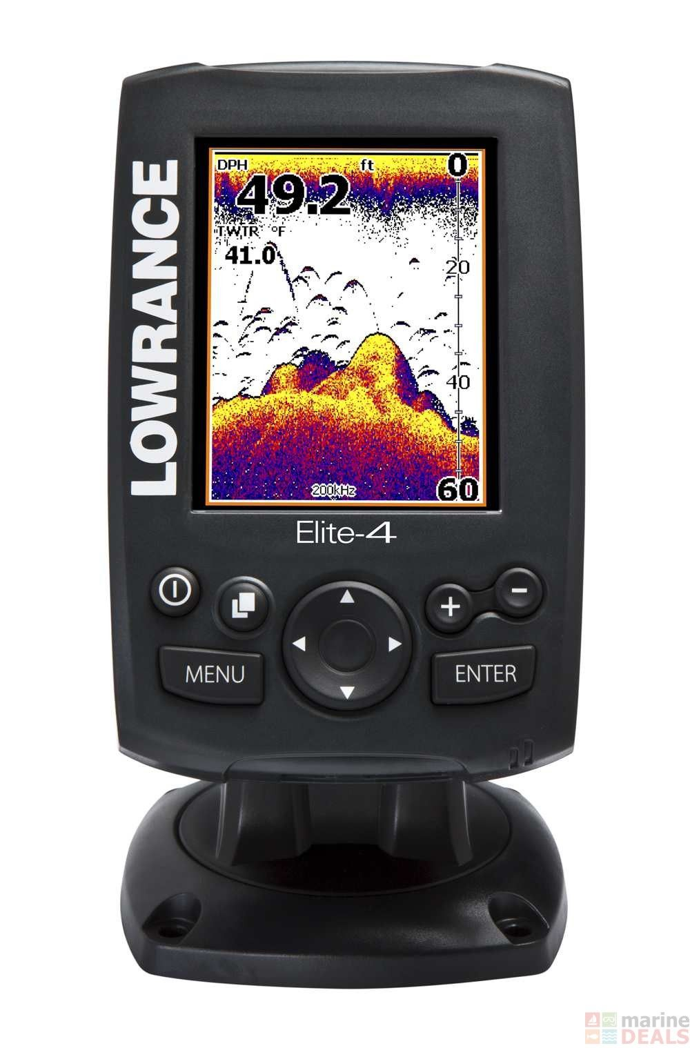 Lowrance Elite 4 GPS Chartplotter Fish Finder Combo
