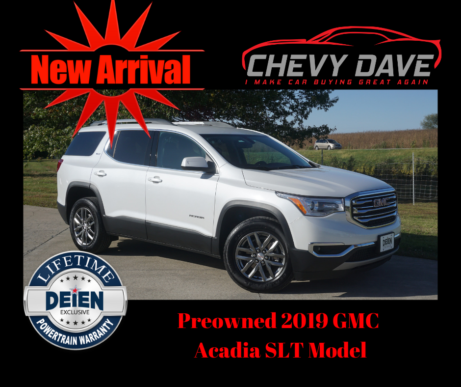 New Arrival 2019 Gmc Acadia Slt Model Only 23k Miles Great