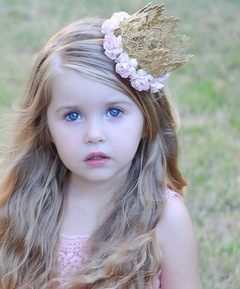 94d5626f2649 Gold   Pink Rose Sienna Crown Kids Headbands