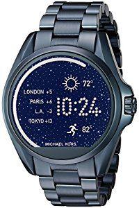 Michael Kors Access Touch Screen Blue Bradshaw Smartwatch ...