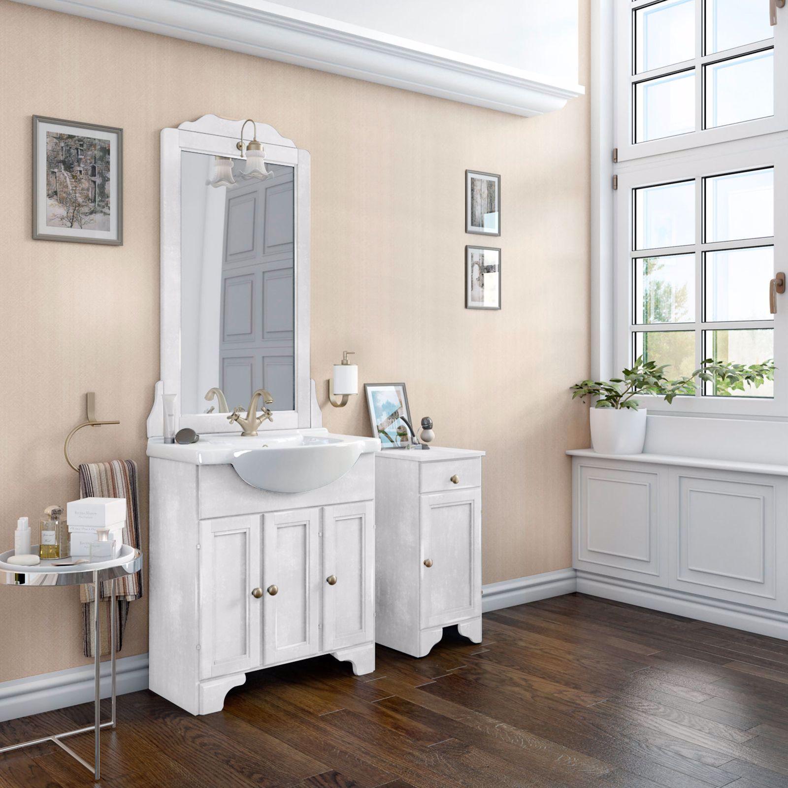 Pittura Shabby Leroy Merlin mobile bianco in legno