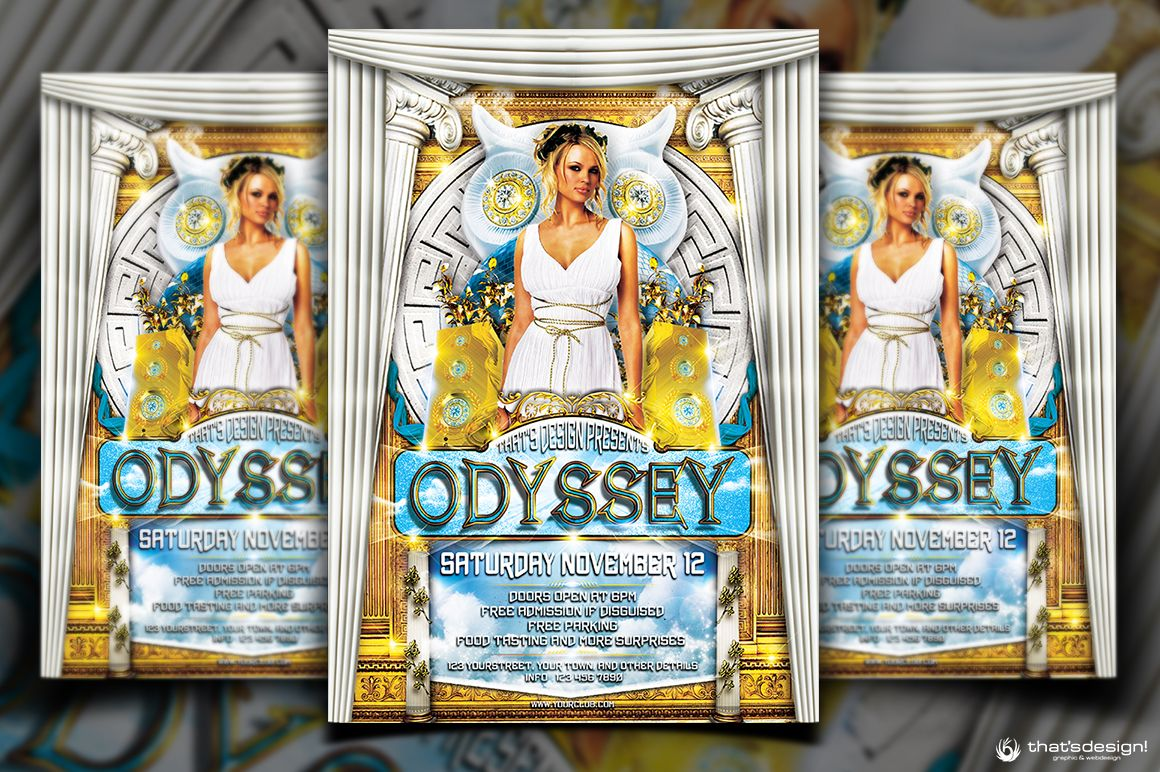greek party flyer template thats design store flyer templates